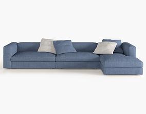 3D asset Corner Sofa semi large size
