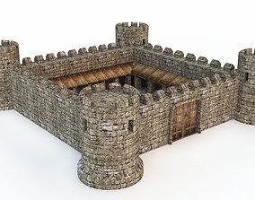 3D model town-gate Castle