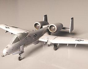 A10 Warthog Jet 3D asset