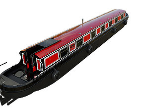 3D asset English Canal Boat 02