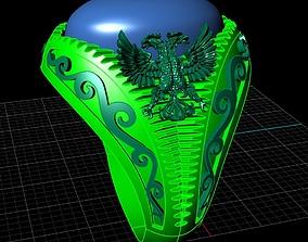 3D print model double eagle ring