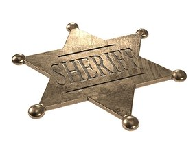 3D model sheriff badge