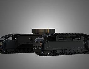 crawler 3D model Shovel mechanical tracks