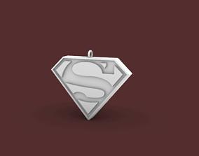 Superman Earring-Pendant 3D print model