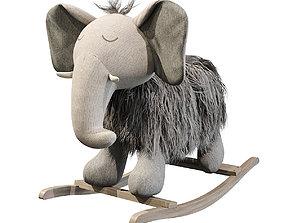 Plush Rocking Elephant 3D model