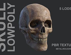 Lowpoly Skull 3D model