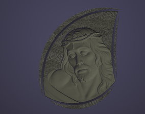 Jesus Christ in a blob with texture 3d printable model 3D