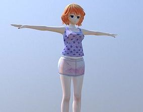 Kline Club Girl - Rigged Anime Character 3D asset