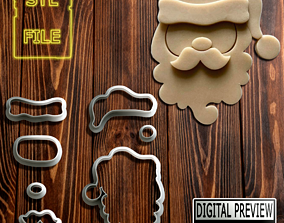 SANTA CLAUS COOKIE CUTTER - CHRISTMAS 3D printable model