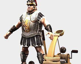 3D asset Roman catapult