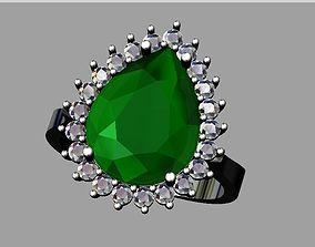 3D printable model Pear cut diamond ring