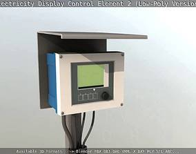3D asset Electricity Display Control Element 2 Low-Poly