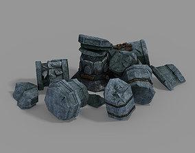 Shura Celestial Realm-Broken Pillar 03 3D model