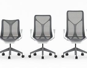 3D model Herman Miller Cosm Chair Set