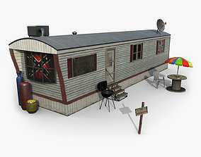 Mobile Home Game Ready 3D model
