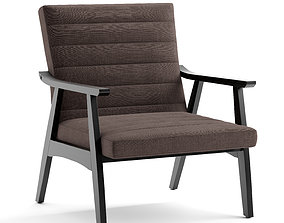 3D Accent chair fabric and leather