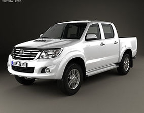 Toyota Hilux Double Cab with HQ interior 2015 3D