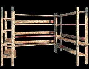 Wooden Shelf 3D asset game-ready