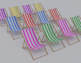 3D asset Deck Chair