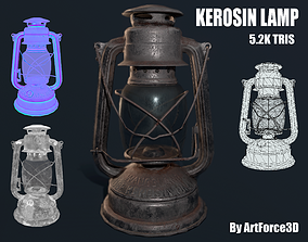 Oil lamp 3D asset game-ready PBR