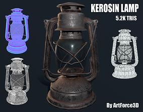 3D model VR / AR ready Oil lamp