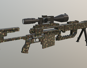 sniper-rifle 3D printable model Sniper