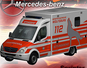 Mercedes-Benz Sprinter Wolfsburg 3D asset game-ready