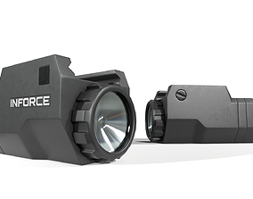 3D asset Inforce APLc Compact Handgun Weapon Mounted