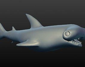 3D model hammerhead shark marine