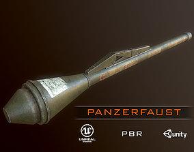 3D asset German Panzerfaust WWII grenade launcger pbr