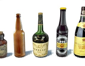 3D asset Bottles pack