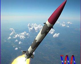 Hatf-II Ballitic Missile 3D asset