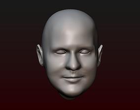 Male head 26 bald head 3D print model