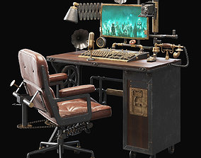 3D model Steampunk Style Workplace