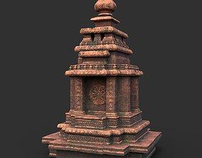 Low poly Ancient Temple 08 3D model
