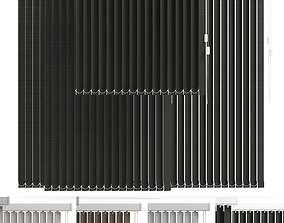 vertical blinds in 4 color 3D model