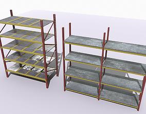 3D model Industrial shelves 4