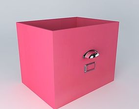 Pink storage bin TONIC houses the world 3D model