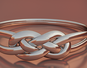 knot 3D printable model Knotted ring