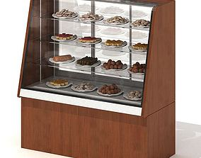 3D model Wood Toned Bakery Display Case