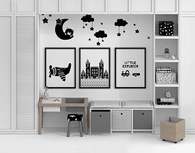 Kid Furniture composition Full set 3D model