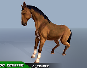 Horse Rigged-Animated 3D Model animated