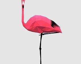 3D asset Flamingos