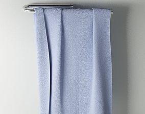 3D model Towel 02 blue