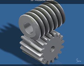 Custom Worm Gear Collection 01 3D print model