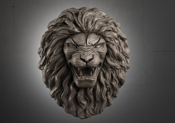 Lion Head Sculpture 3d print model