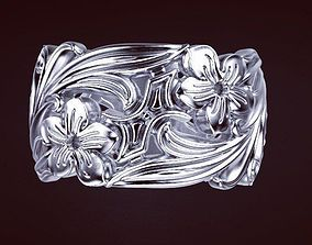 Flower ring 3D printable model printable