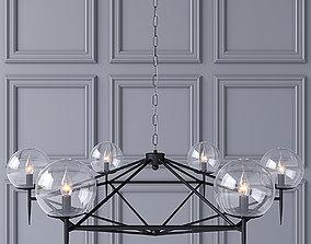 3D model Pendant lamp Worlds Away ROWAN G BLACK