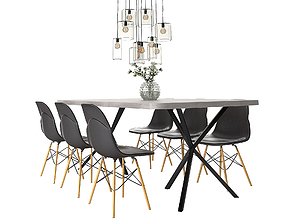 3D Dining Furnitures Set 42