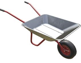 3D asset Game-ready Wheelbarrow Clean - Unity - HDRP - UE4